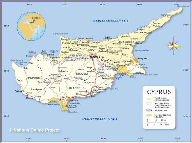 Mapa Chipre - El Viaje No Termina