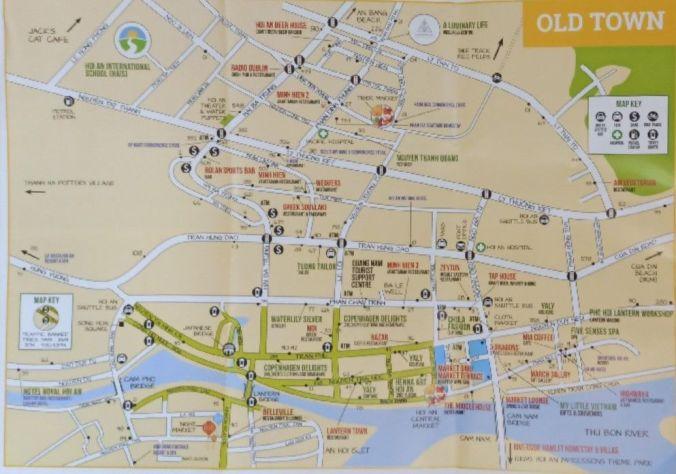 Mapa Hoi An - Vietnam - El Viaje No Termina