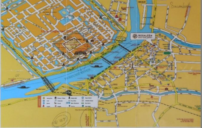 Mapa Hue - Vietnam - El Viaje No Termina