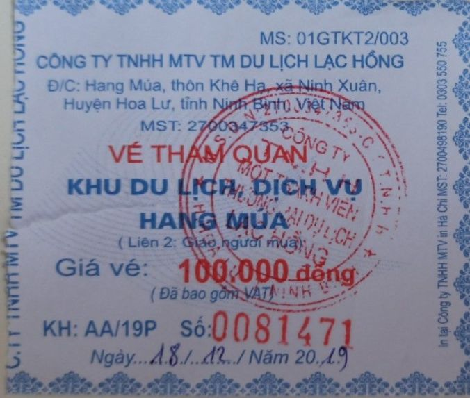 Ticket Hang Mua - Nih Binh