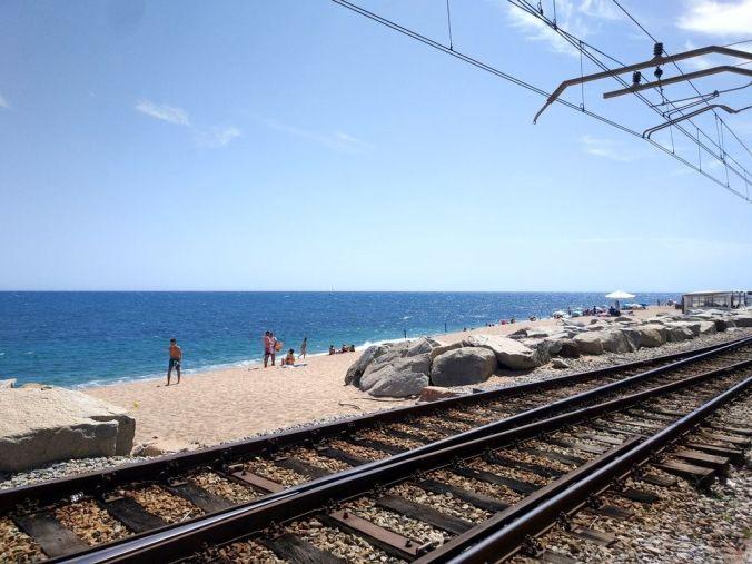 Ruta tren costa Barcelona - El Viaje No Termina