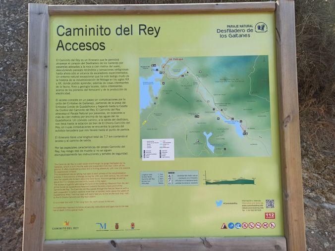 Plano accesos Caminito del Rey - Malaga - El Viaje No Termina