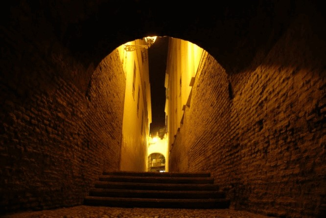 Callejón de la Inquisición en Sevilla