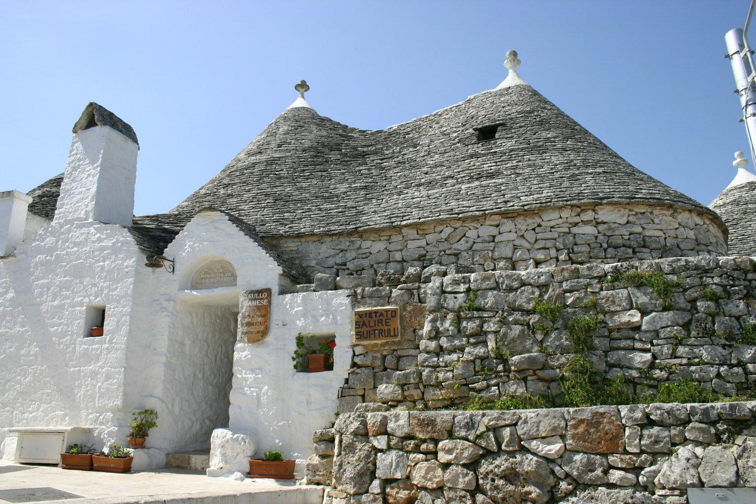 Trulli siameses en Alberobello