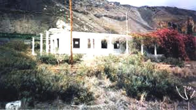 La estación hidrofónica de Puerto Naos abandonada. Años 80