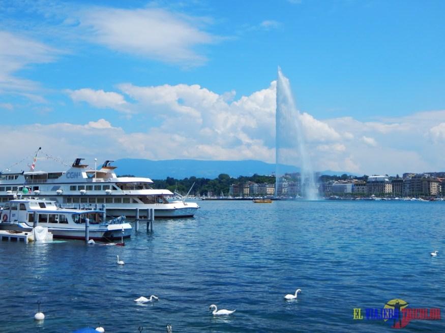 Lago Leman en Ginebra