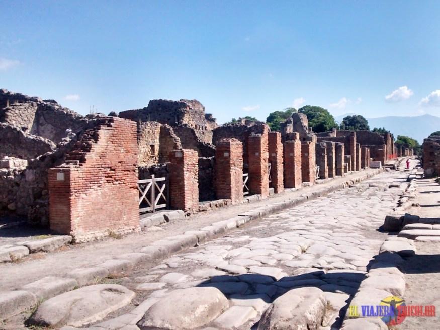 Calles de Pompeya Italia