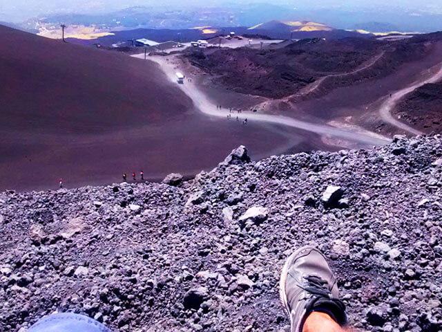Subiendo el volcán Etna