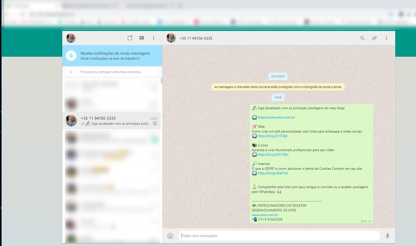 Mensagem personalizada para whatsapp