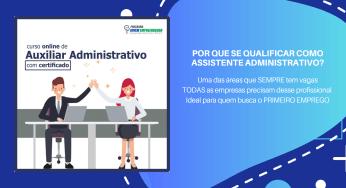 Apresento o curso auxiliar administrativo totalmente online e com certificado.