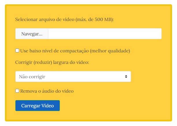 VideoSmaller reduzir tamanho de video para whatsapp
