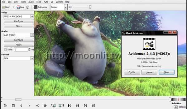影片剪輯軟體下載 Avidemux