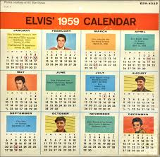 RARE 1959 calendar with promo head shots inlcuding Army