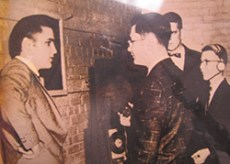 1956 Elvis at Oscar Smith High School students chance to meet Elvis