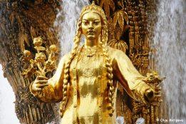 Golden Turkmen girl