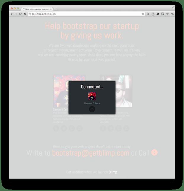 Blimp bootstrap website call ui