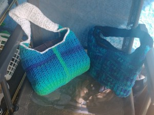 Crocheted totes