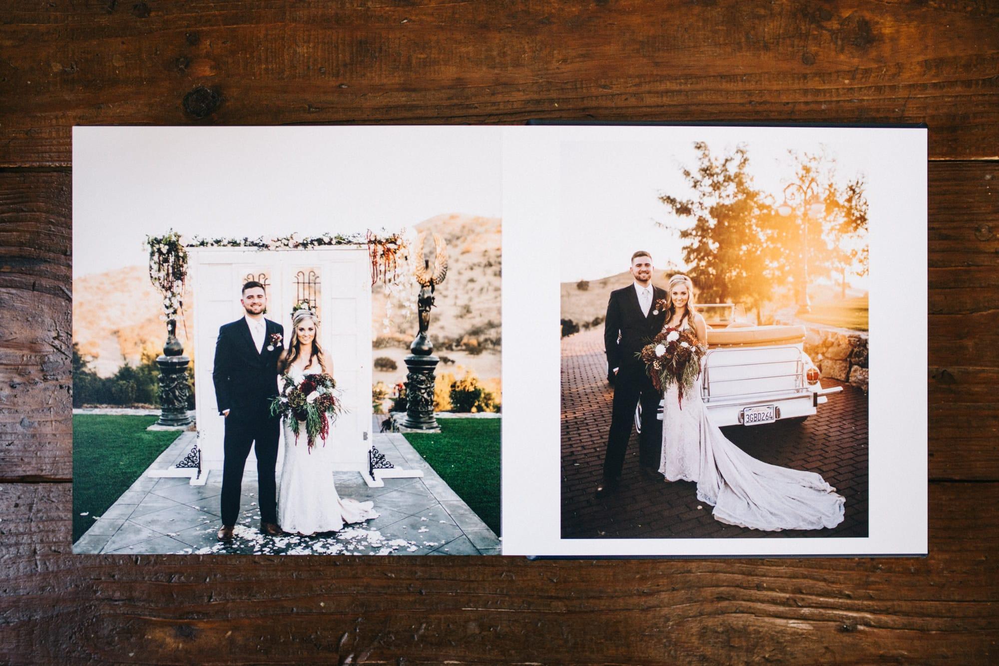 Sample Leather Wedding Album Ely Roberts Photography