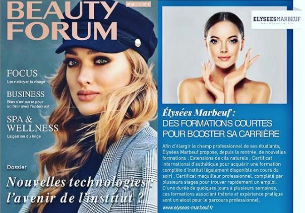 Beauty Forum : les formations courtes à l'honneur dans le magazine