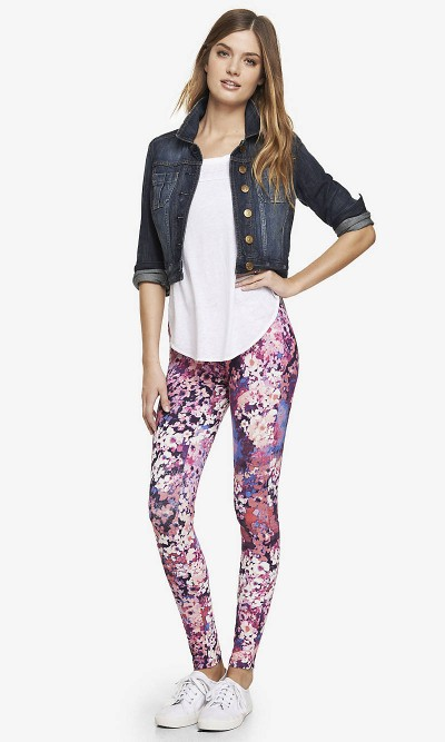 Wiidprint Leggings at Express, $44.90