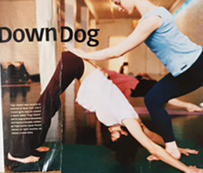 My Yoga Journal Moment-- My Down Dog landed right in the gutter of the May 2000 issue