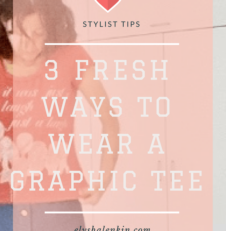 The graphic tee is a staple wardrobe item that can be elevated when styled with unexpected pieces. In this video, I'll show 3 ways to wear your graphic tee.
