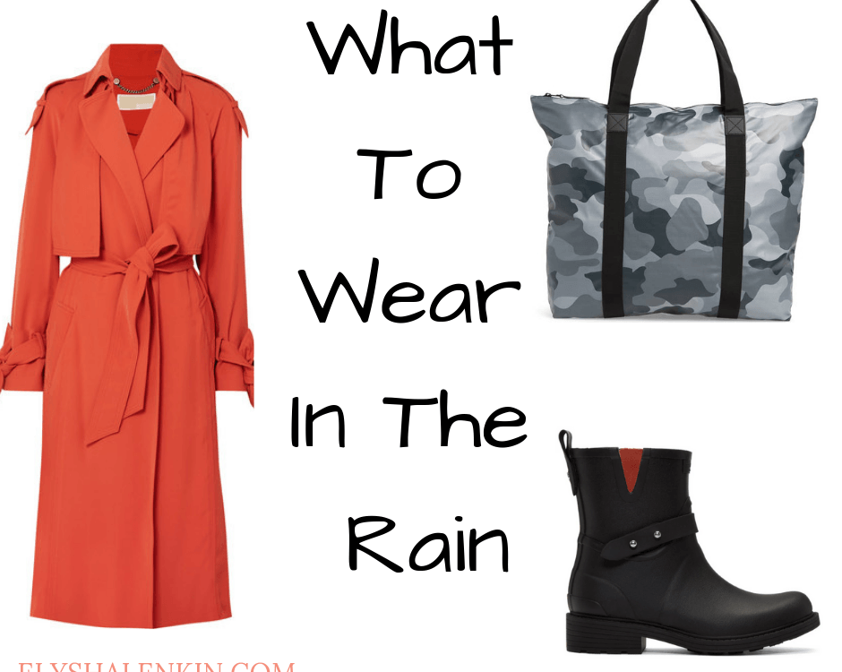 Here's how to stay stylish when the weather is soaking. These rainy day style ideas will help you find a raincoat, rain boots, umbrella and water resistant bag. For more shopping tips, check out the rainy day style post. Here you'll find several fashion suggestions to keep you feeling stylish in the bad weather.
