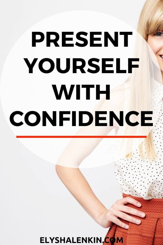 Present Yourself With Confidence. Women stands with hands on hips for power pose.