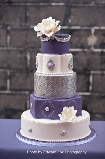 Wedding   Bridal Cakes   Elysia Root Cakes elysia root cakes chicago purple silver cake  elysia root cakes chicago  purple silver cake