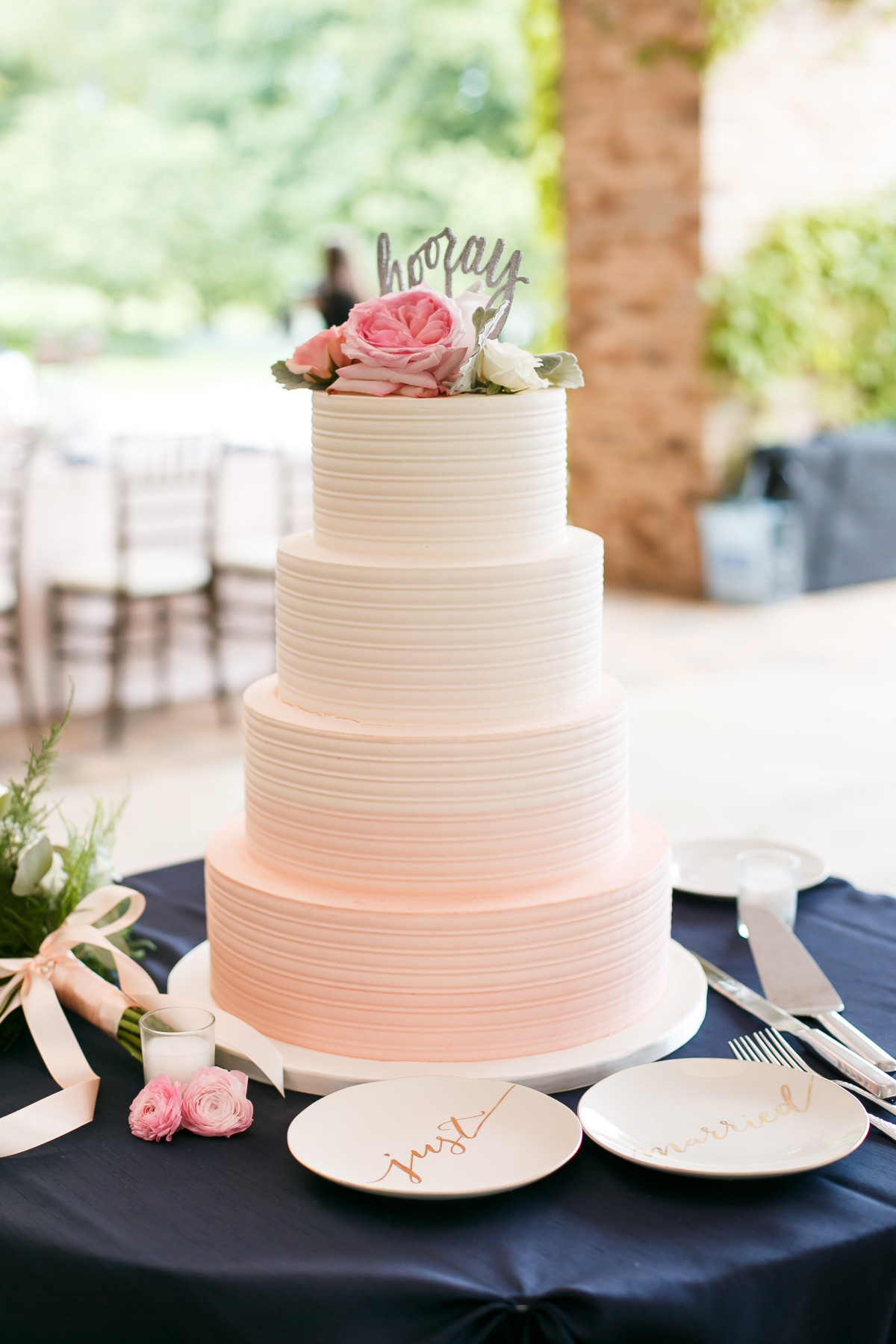 Pink Ombre Buttercream Wedding Cake 20150612 averyhouse 0464