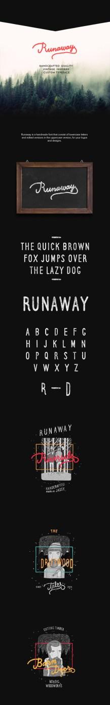 Runaway Font designed by Iulian Maftei: https://www.behance.net/gallery/23693861/Runaway-Font-(Free)