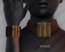 Ichtacha choker set - brown
