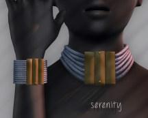 Ichtacha choker set - serenity