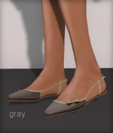 Line pointy flats - gray