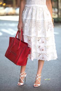 elyziana red purse