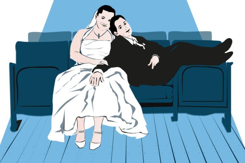 vestido boda color ilustracion