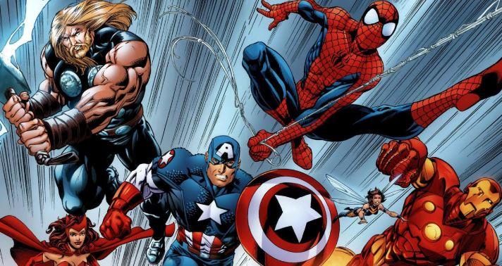 cómic Avengers con personajes de Infinity War
