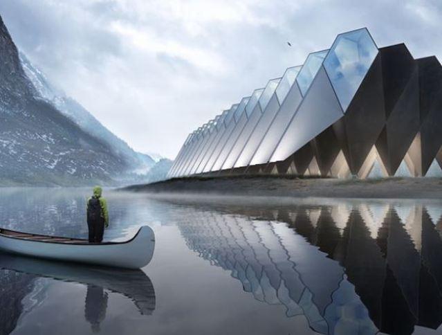 El mejor hotel futurista en el que dormir en cápsulas triangulares