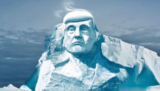 La cara de Donald Trump será esculpida en un iceberg por el Proyecto Trumpmore