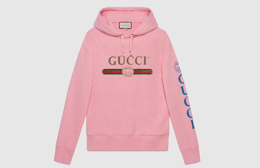 sudadera con el logo retro de Gucci