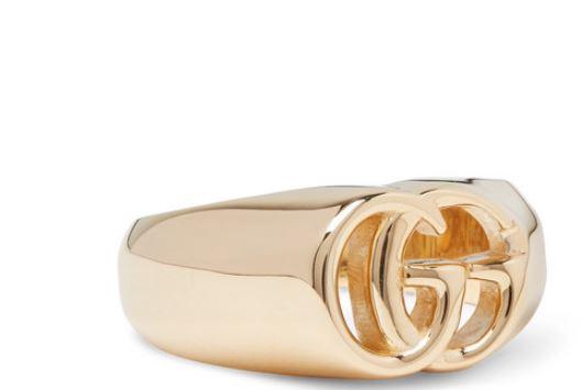 anillo de oro gucci