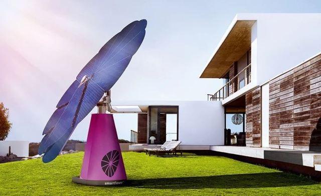 Llegan los paneles solares para casa en forma de flor