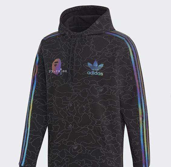 Más chaquetas BAPE x adidas con material reflectante XENO en una nueva colaboración