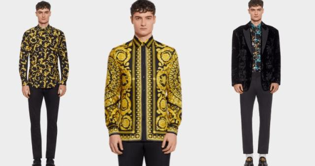 réplica de la camisa Versace