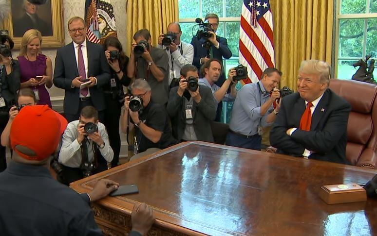 reunión entre Kanye West y Donald Trump