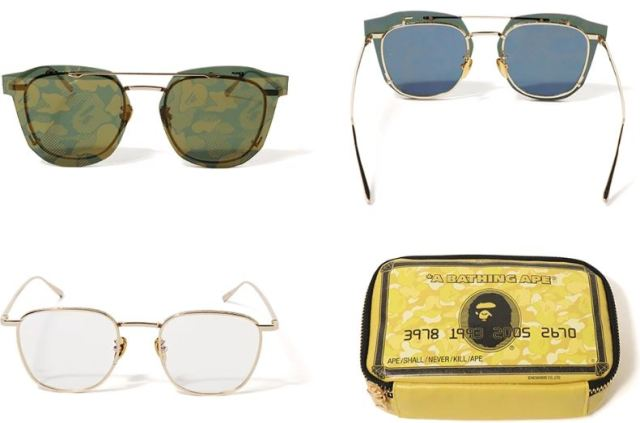 Nuevas gafas BAPE con pantalla de camuflaje extraíble