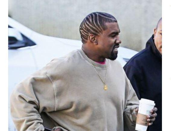 peinado de Kanye West