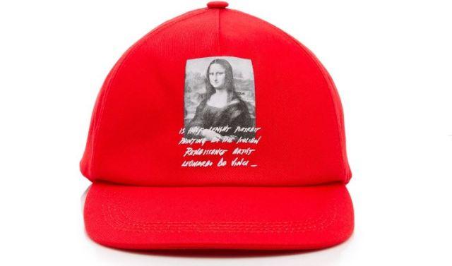 Off White lanza una gorra de la Mona Lisa rindiendo homenaje a la pintura de Leonardo da Vinci