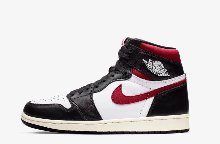 Air Jordan I negras, blancas y rojas
