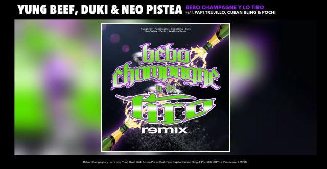 Llega el remix de Bebo Champagne y lo tiro con Duki x Neo Pistea